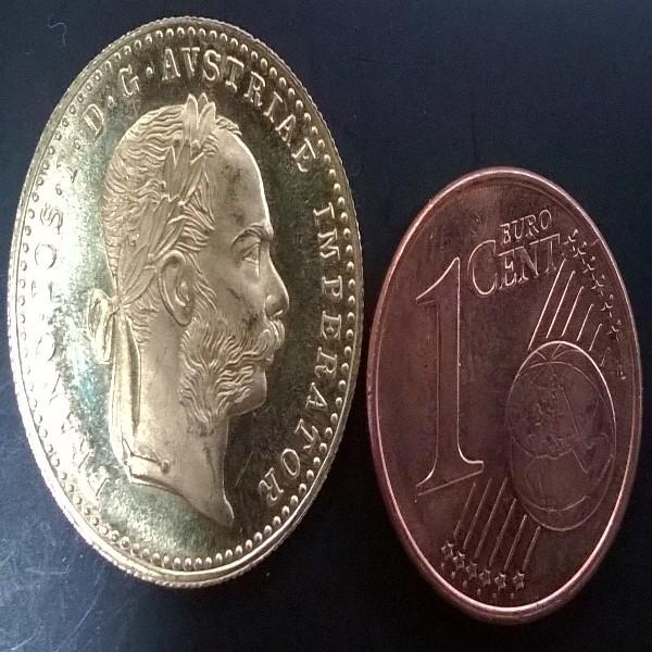 1 Gold Dukat 1915 NP 1 fach Franz Josef 3,5 Gramm