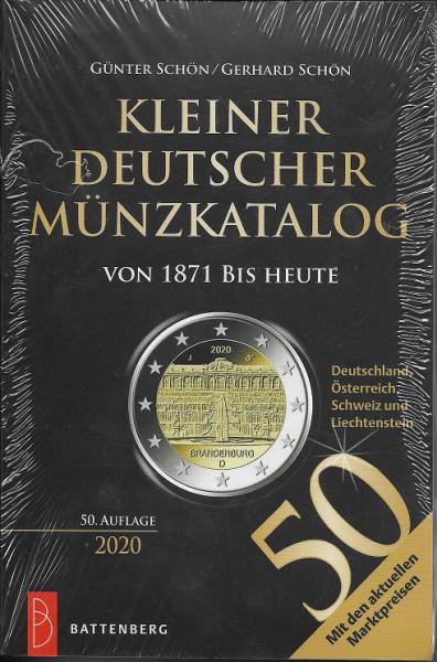 Kleiner Deutscher Münzkatalog von 1871 bis Heute Battenberg 2020 50.Auflage