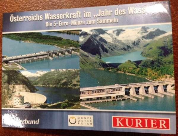 5 Euro Silber 2003 Wasserkraft Freudenau ANK Nr. 2c