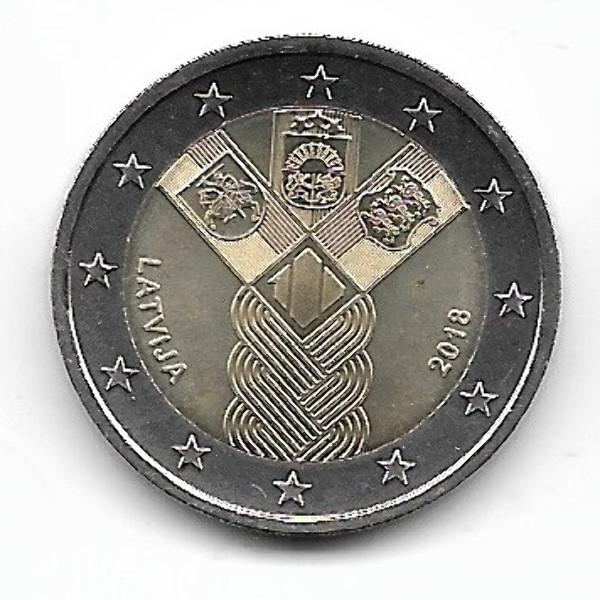 2 Euro Lettland 2018 Gemeinschaftsausgabe Unabhängigkeit