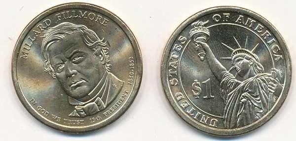 USA 1 Dollar 2010 D Millard Fillmore (13)