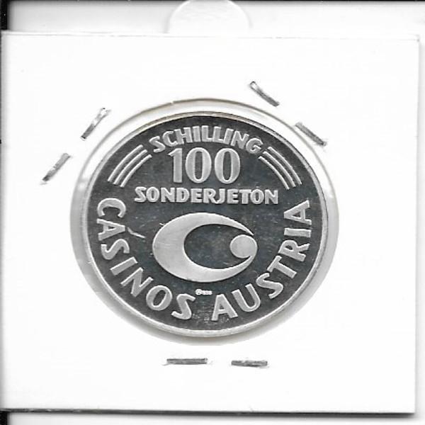 Casino Jeton 100 Schilling Wiener Opernball 1986 Casinos Austria Silber