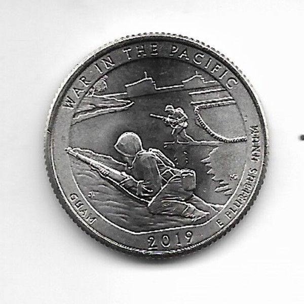"USA 25 Cent 2019 S ""Beautiful Quarter - Pacific War / Guam"" - (48)"