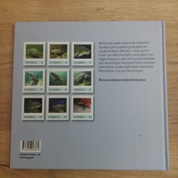 Briefmarkenbuch Fischerei in Österreich mit 8 exklusiven Marken