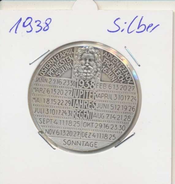 1938 Kalendermedaille Jahresregent Silber