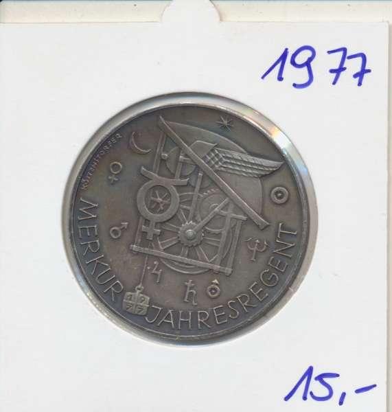 1977 Kalendermedaille Jahresregent Bronze versilbert