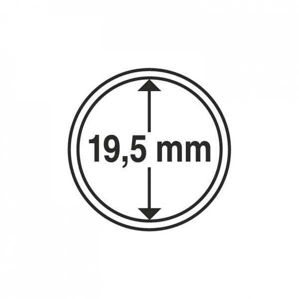 MÜNZKAPSELN CAPS 19,5 MM, 10 ER PACK