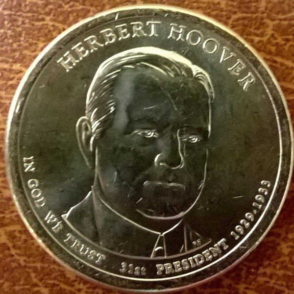 USA 1 Dollar 2014 P Herbert Hoover (31)