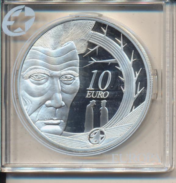 10 Euro Irland Eire 2006 PP Samuel Beckett 1906-1989 Silber Ag Europa Stern