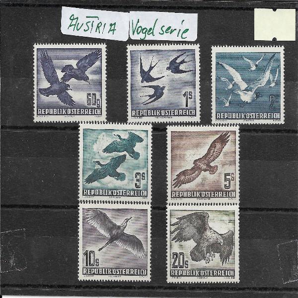 Österreich Flugpostserie Heimische Vogelwelt 1950/53