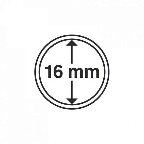 MÜNZKAPSELN CAPS 16 MM, 10 ER PACK