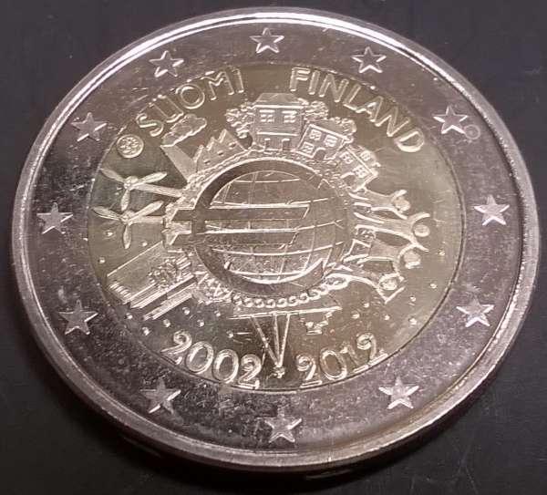 2 Euro Finnland 2012 10 Jahre Euro