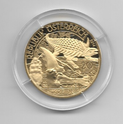 20 EURO Silber 2014 Kreide Leben auf der Erde Lebendige Uhrzeit 24 Karat Vergoldet