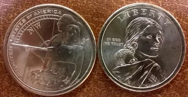 1 Dollar USA 2014 P Sacagawea - Nativ Dollar