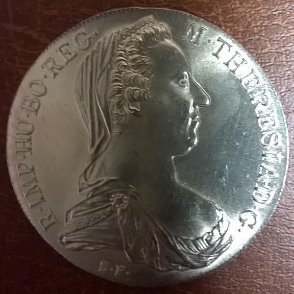 Maria Theresia Taler 23,3 gr. Feinsilber