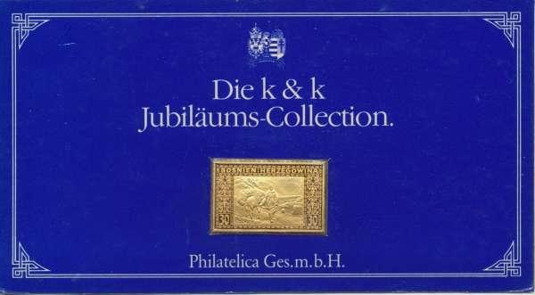 K&K Jubiläums Collection Silber Gold Österreich Bosnien Herzegowina 30 Heller