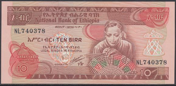 Äthiopien – 10 Birr () (Pick 43) Erh.