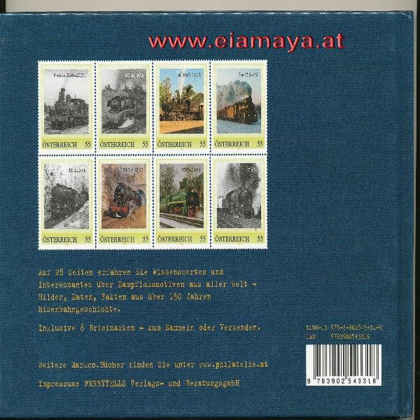 Briefmarkenbuch Legenden unter Dampf inklusive 8 Briefmarken