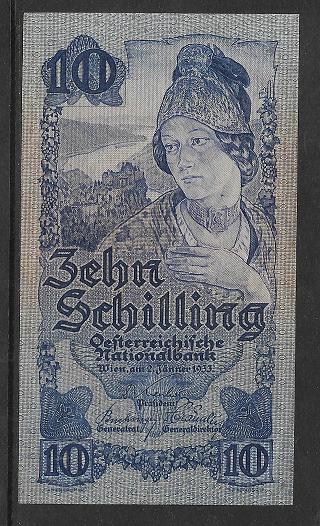 10 Schilling 2.1.1933 Nr.1182 45802 ANK 222 Pick 99