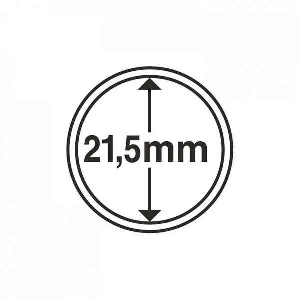 MÜNZKAPSELN CAPS 21,5 MM, 10 ER PACK