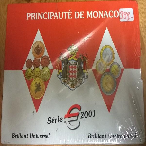Monaco Kursmünzen Set 2001 Rainer KMS
