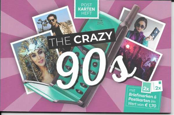 The Crazy 90s Postkartenheft mit 2 Marken