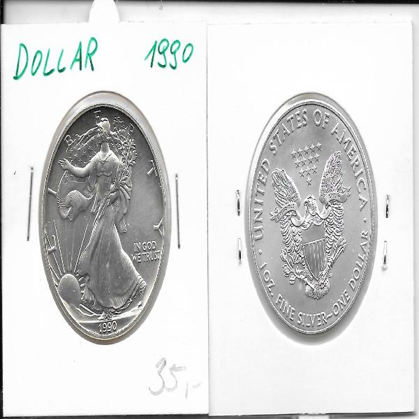 1 Dollar Silber Eagle Unze 1990