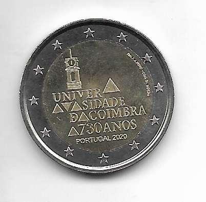 2 Euro Portugal 2020 730 Jahre Universität von Coimbra
