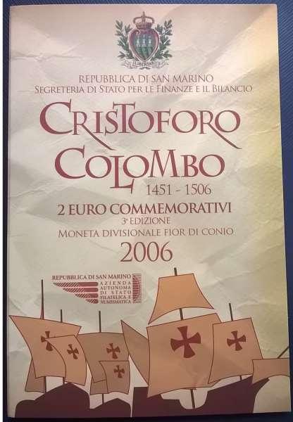 2 Euro San Marino 2006 Chr.Kolumbus