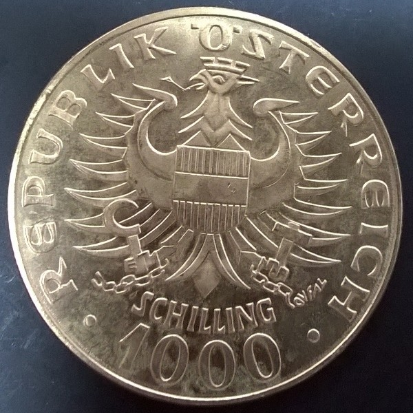 Wir kaufen an Gold Tageskurs Richtpreis ! 1000 Schilling Babenberger