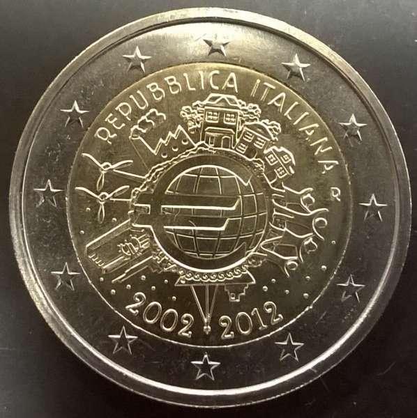 2 Euro Italien 2012 10 Jahre Euro
