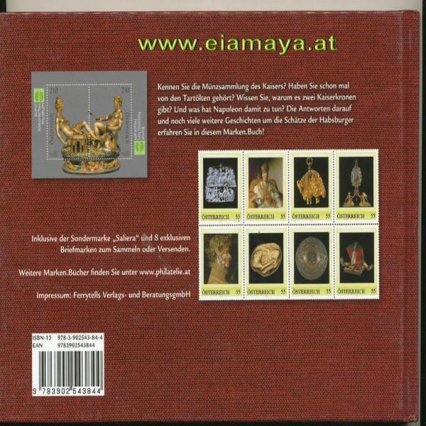 Briefmarkenbuch Schätze der Habsburger inklusive 10 Breifmarken