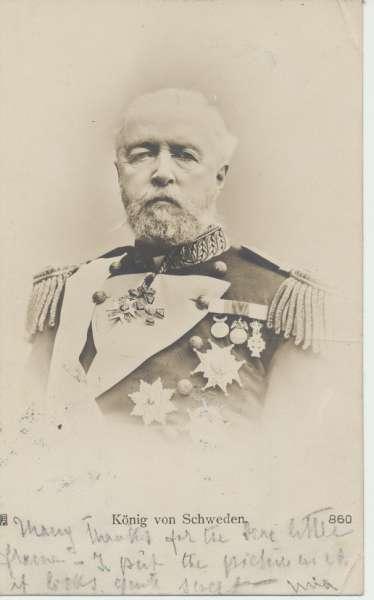 Oskar II König von Schweden ca.1900