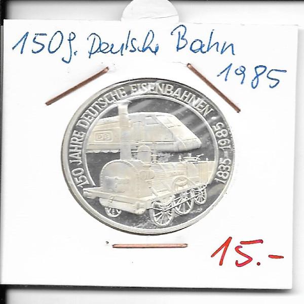 Casino Jeton 100 Schilling 150 Jahre Deutsche Eisenbahnen 1985 Casinos Austria Silber