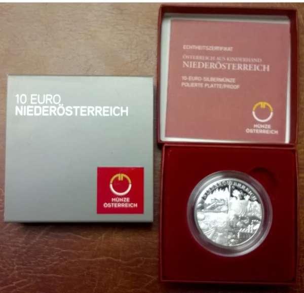 10 Euro Silber 2013 Niederösterreich PP ANK Nr. 23
