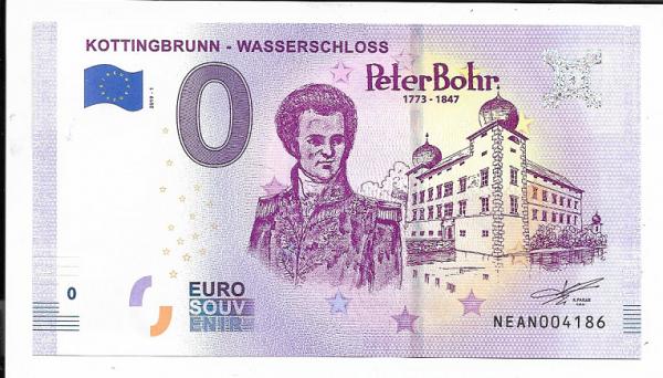 ANK.Nr.22 Kottingbrunn Wasserschloss Peter Bohr Unc 0 Euro Schein 2019-1