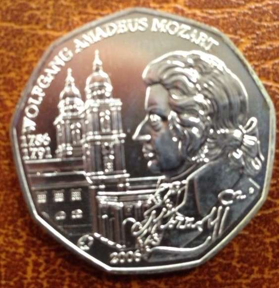 5 Euro Silber 2006 250 Geburtstag von Wolfgang Amadeus Mozart lose ANK Nr. 8b