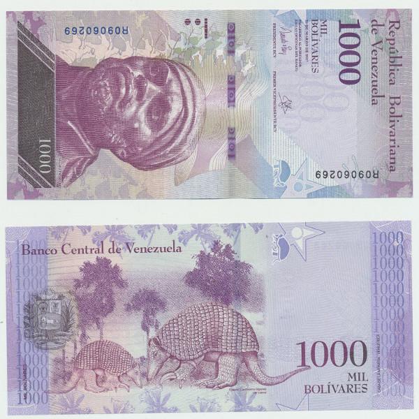 Venezuela – 1000 Bolivares 23.03.2017, (P.) Erh. UNC