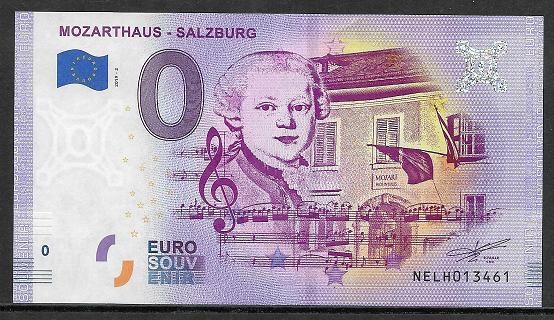 ANK.Nr.34 Mozarthaus Salzburg Unc 0 Euro Schein 2019-2