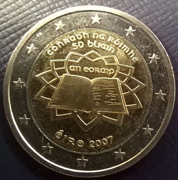 2 Euro Irland 2007 Römische Verträge