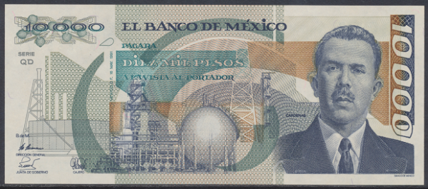 Mexiko- 10000 Pesos 1991 UNC - Pick 91