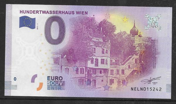 ANK.Nr.04 Hundertwasserhaus Wien Unc 0 Euro Schein 2017-1