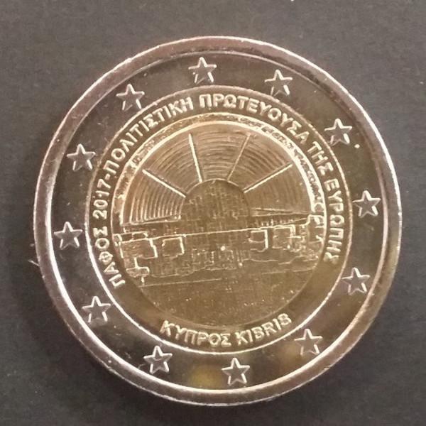 2 Euro Zypern 2017 KULTURHAUPTSTADT PAPOS