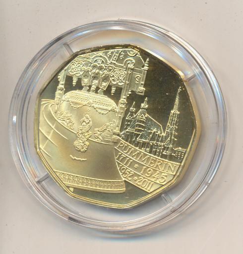 ANK Nr.19 24 Karat vergoldet 2011 Pummerin 1711-2011 5 Euro Silber