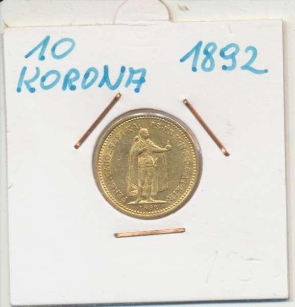 10 Korona 1892 KB Franz Joseph I Gold