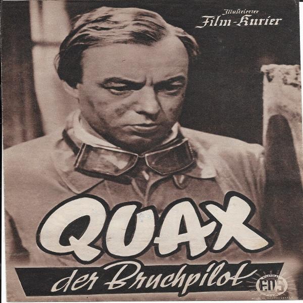Illustrierter Film - Kurier Heinz Rühmann QUAX der Bruchpilot Nr 1884/1954