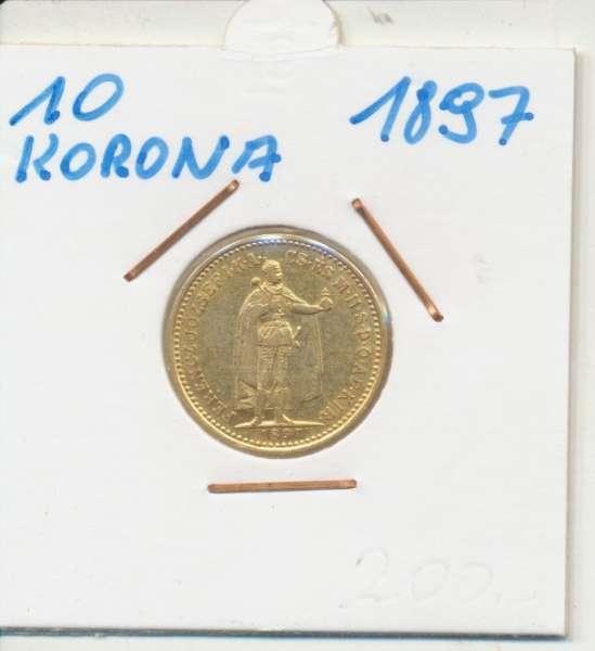 10 Korona 1897 KB Franz Joseph I Gold