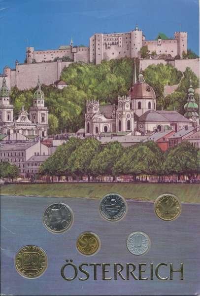 1997 Kursmünzensatz Österreich Erinnerung an den Schilling