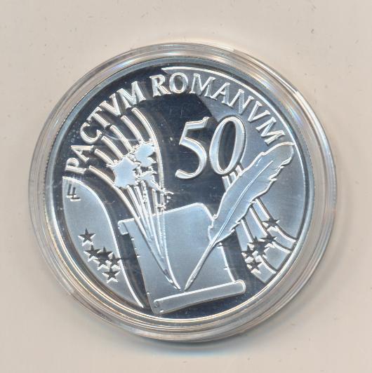10 Euro 2007 PP Silber Ag Belgien Römische Verträge Europa Stern