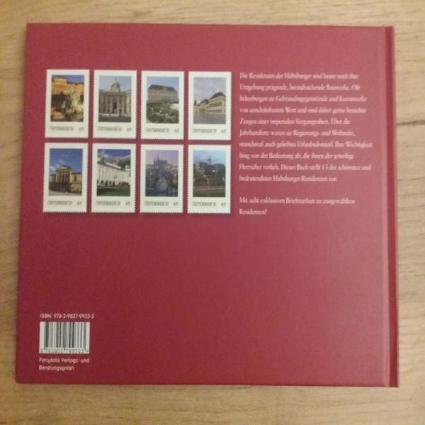 Briefmarkenbuch Residenzen der Habsburger mit 8 exklusiven Marken